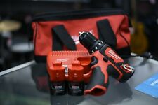 """Milwaukee 3/8"""" Drill/Driver Set 2 Battery + Charger + Carrying Bag"""