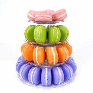 Multitiers Macaron Display Stand Cupcake Tower Rack Cake Stand PVC Tray Cake Y1