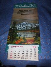 1981 Calendar Martin's Sporting Camps Chain-of-Lakes Long Lake Sinclair Maine