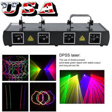 4 Lens 460mW DMX DJ Laser Stage Light Club Party Lighting projector Show + Cable