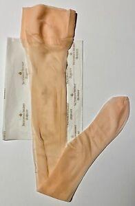 VIntage Victoria Secret Fine Hosiery London Nylons Pink Thigh Highs Hose NOS
