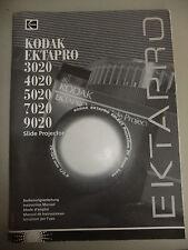 Las instrucciones Proyector De Diapositivas Kodak Ektapro 3020 4020 5020 7020 9020 CD/correo electrónico