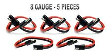 """5 Pieces 8 GA Gauge 12"""" 2 Pin Quick Disconnect Harness Inline Install"""