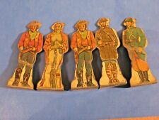 Set of 15: Vtg Marx Tin/metal Toy Soldiers Targets, Cowboy-indian-German-Russian