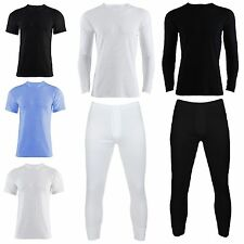 Mens Short Or Long Sleeve Vest Heat Trap Thermal Brushed Underwear T Shirt Top