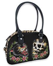 Liquor Brand Panther Skull Leopard Print Art Bowling Bag Handbag Purse B-BW-023
