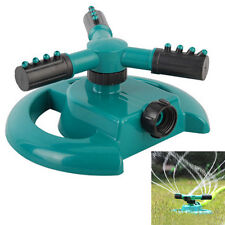 3 ARM 360° Circle Rotating Water Sprinkler Garden Lawn Pipe Hose Irrigation US