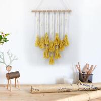 Yellow Macrame Wall Hanging Tapestry Woven Bohemian Art Backdrop Wedding Party