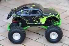 Custom Buggy Body Muddy Green for Traxxas Skully Grave Digger 1/10 Truck Car