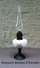 B2017346 - Lampe à pétrole aliage étain et faïence pour déco - Reproduction