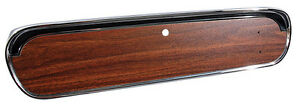 1965-1966 Ford Mustang Glove Box Door - Deluxe Woodgrain - without Emblem