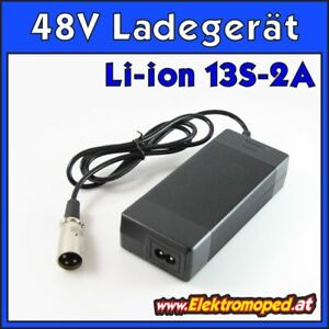Ersatzteil Elektro-Scooter 48V 2A Lithium Li-ion 13S Ladegerät, Output 54,6V