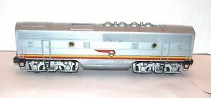 "Lionel Postwar Original 2343C ""Screen Top"" Santa Fe F3 Diesel B-Unit! PA"