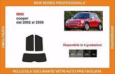 pellicola oscurante vetri pre tagliata mini cooper dal 2002 al 2006 kit post