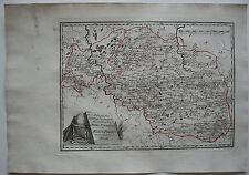 Klein Polen Chelm Wolhynien kolor Orig Kupferstichkarte Reilly 1791 Nr. 44