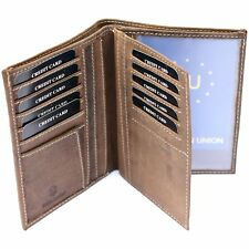 Mens Genuine Leather Thin & Slim Jacket Wallet   Credit Card and Photo Holders
