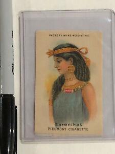 PIEDMONT SILK CIGARETTE TOBACCO CARD EGYPTIAN WOMAN BARENIKAT