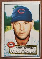1952 Topps Hank Edwards (Red Back) Card # 176 - Cincinnati Reds - EX+