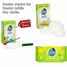 Pledge Fluffy Dusters starter kit , Refill Pack, Dry Dusting Cloth New