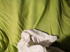 tissu lin coton, vert anis