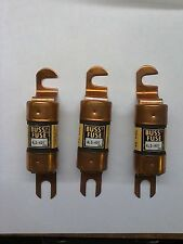 BUSS FUSES   ALS -  400. 48VDC  (LOT OF THREE)
