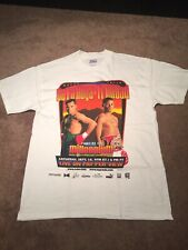 Collecters Item Vintage Boxing Tee Shirt De La Hoya vs Trinidad Fight Size Large