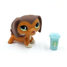 Littlest Pet Shop dog LPS toys #675 cute Dachshund dog with Accessories
