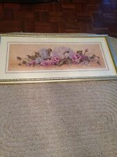BEAUTIFUL Framed SHARI WHITE Floral Print