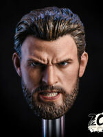 In-Stock 1/6 ZCTOYS ZC-T07 Captain America Head Sculpt Rage Ver. HW/O Neck