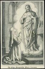 santino lithographie 1800 S.MARGHERITA M. ALACOQUE