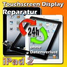 24 Stunden iPad 2 Touchscreen Display Glas Scheibe Reparatur Austausch Schwarz