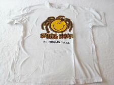 Woman's Paradise St Thomas U.S.V.I. White T-Shirt Size XL Smile Mon!
