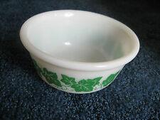 "Hazel Atlas-Milk glass/ivy trim Bowl-3"" tall-6"" diameter-USA-1950's to 60's"