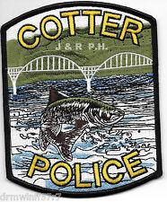 "Cotter, AR  (4"" x 5"" size)  shoulder police patch (fire)"