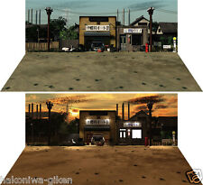[HAKONIWAGIKEN DSmW-F001 430x302mm] Diorama Sheet mini-W old Japanese street