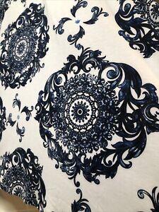 NWT Lularoe 2xl 2x Olivia High/Low Skirt blue & white mandala like print