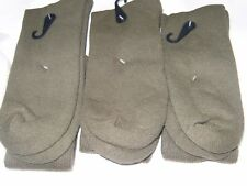 3 Pairs Men US Army Military Issue Anti-Fungal USA Made Boot Socks GREEN 10-13