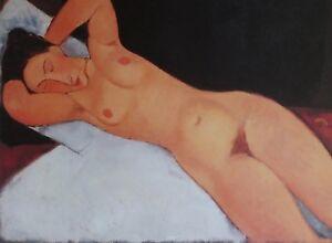 GUGGENHEIM, Cezanne to Pollock, Amedeo Modigliani, NUDE (NU) 1917. Exhibition Po