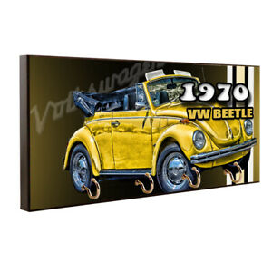 1970 Volkswagen VW Beetle Convertible Design Key Hanger / Pet Leash Hanger