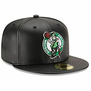 [70344039] Mens New Era NBA 59Fifty Faux Leather Fitted Cap Boston Celtics