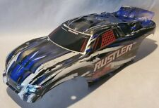 Traxxas RUSTLER 1/10 body shell blue Silver Black White Painted 2WD NEW