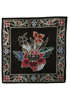 Batik art original flower print from Java Indonesia cotton multi-use cloth new