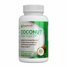MCT Organic Coconut Oil Supplement Certified Pure Organic Extra Virgin 1000mg...