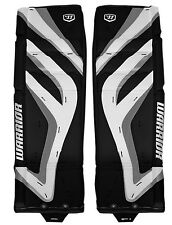 New Warrior Messiah ice hockey pro senior goalie leg pads 32 +1 black silver