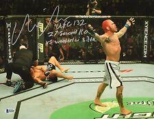 Chris Leben Signed 11x14 Photo BAS Beckett COA UFC 132 Picture v Wanderlei Silva