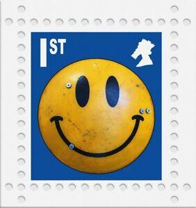 James Cauty Peterloo Massacre 200th anniversy smiley Riot shield 1st class Print
