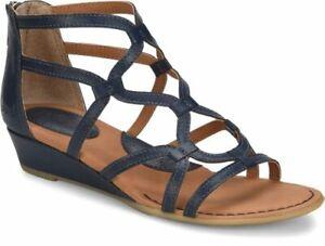B.O.C. Pawel Demi Ocean Blue Wedge Gladiator Sandals Women's Summer Shoes Z09604
