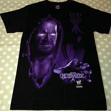 Collectable 2007 WWE The Undertaker Tshirt Wrestling T-Shirt / Top - Size Small