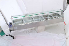 Electric Bain-Marie Buffet Counter top Food Warmer 5 Steam Table New