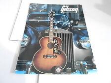 VINTAGE MUSICAL INSTRUMENT CATALOG #10655 1986 GIBSON GUITARS BANJOS